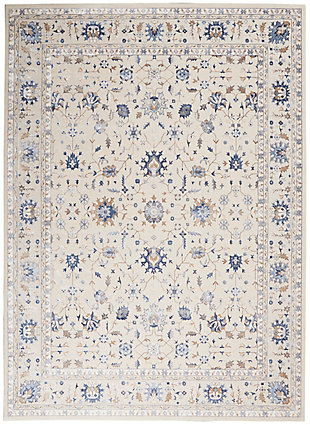 Nourison Silky Textures 8'x 11' Area Rug, Ivory, large