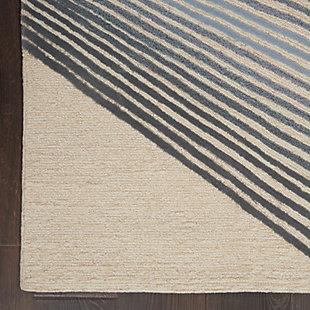 Nourison Symmetry Ivory 5'x8' Area Rug, Ivory/Gray, large