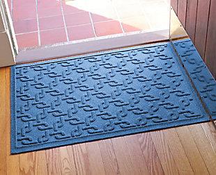 """Home Accents Aqua Shield 1'11"""" x 3' Interlink Indoor/Outdoor Doormat, Navy, rollover"""