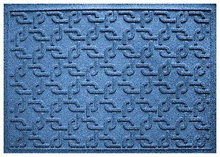 """Home Accents Aqua Shield 1'11"""" x 3' Interlink Indoor/Outdoor Doormat, Navy, large"""
