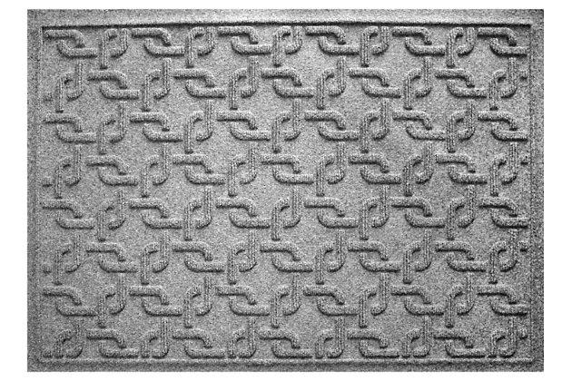"""Home Accents Aqua Shield 1'11"""" x 3' Interlink Indoor/Outdoor Doormat, Gray, large"""