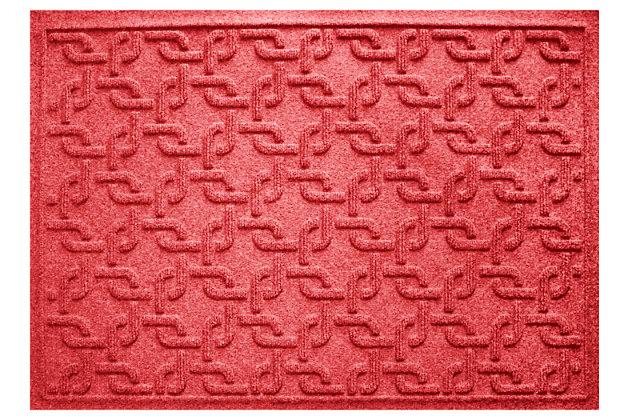 """Home Accents Aqua Shield 1'11"""" x 3' Interlink Indoor/Outdoor Doormat, Red, large"""