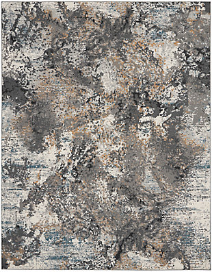 Nourison Tangra 8'x10' Gray Multi Area Rug, Gray/Multi, large