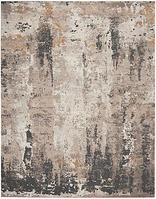 Nourison Tangra 8'x10' Cream Gray Area Rug, Cream Gray, large