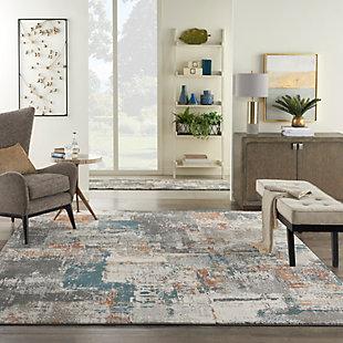 Nourison Tangra 8'x10' Gray Multi Area Rug, Gray/Multi, rollover