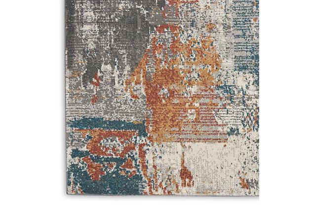 Nourison Tangra 8'x10' Gray Multi Area Rug, Gray/Multi, large