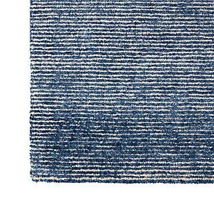 Nourison Weston Blue 8' Runner Textured Hallway Rug, Agean Blue, large