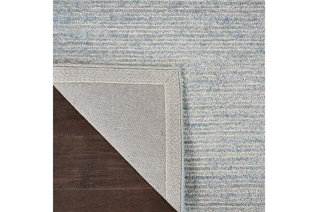 Nourison Weston Light Blue 8' Runner Textured Hallway Rug, Aquamarine, large