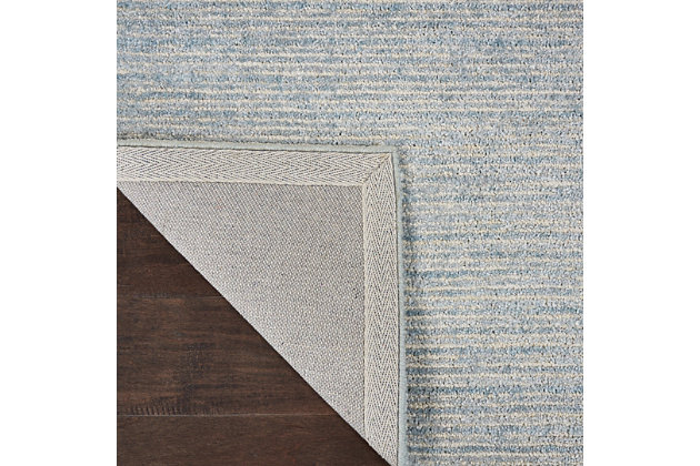 Nourison Weston Light Blue 4'x6' Contemporary Area Rug, Aquamarine, large