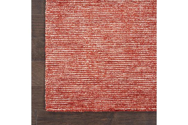 Nourison Weston Red 4'x6' Contemporary Area Rug, Brick, large