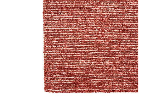 Nourison Weston Red 8'x11' Oversized Textured Rug, Brick, large