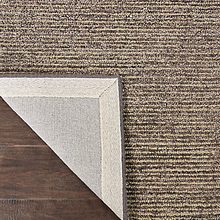 Nourison Weston Gray 8' Runner Textured Hallway Rug, Charcoal, large