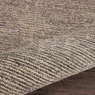 Nourison Weston Gray 8'x11' Oversized Textured Rug, Charcoal, large