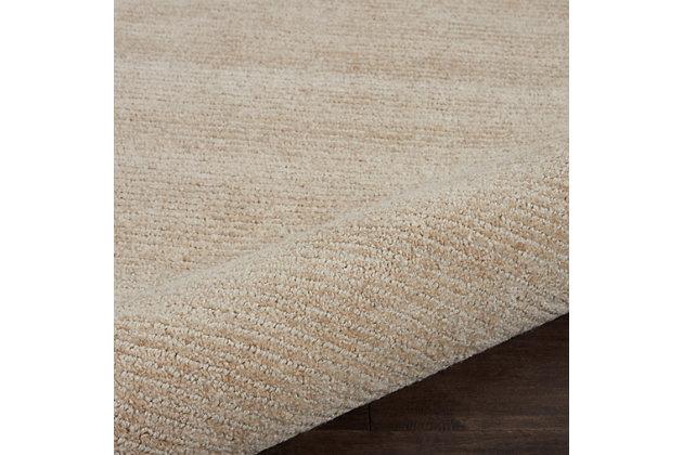 Nourison Weston Beige 8'x11' Oversized Textured Rug, Linen, large