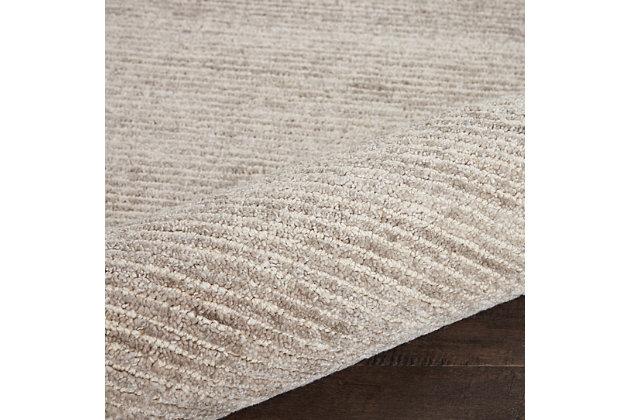Nourison Weston Taupe 8' Runner Textured Hallway Rug, Oatmeal, large