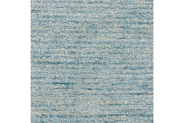 Nourison Weston Light Blue 8' Runner Textured Hallway Rug, Seafoam, large