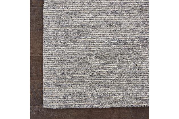 Nourison Weston Gray 4'x6' Contemporary Area Rug, Silver Birch, large