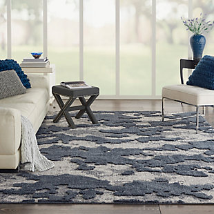 Nourison Zermatt 8' x 10' Gray Neutral Area Rug, Blue/Gray, rollover