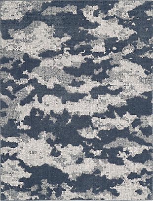Nourison Zermatt 8' x 10' Gray Neutral Area Rug, Blue/Gray, large