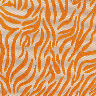 Nourison Aloha Orange 4'x6' Indoor-outdoor Area Rug, Orange, large