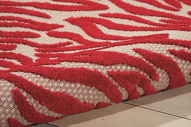Nourison Aloha Red 5'x8' Indoor-Outdoor Area Rug, Red, large