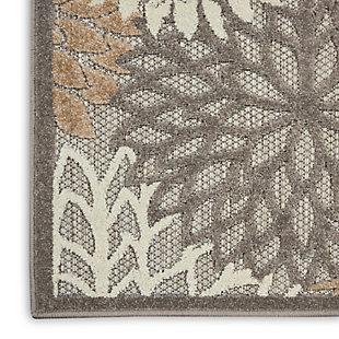 Nourison Aloha 10' Runner Cream Patio Area Rug, Natural, large