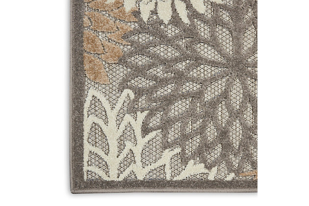 Nourison Aloha 8'x11' Cream Patio Area Rug, Natural, large