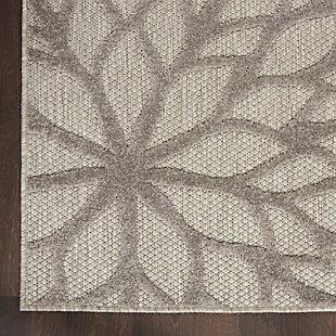 Nourison Aloha 2'x8' Silver Gray Area Rug, Silver Gray, large