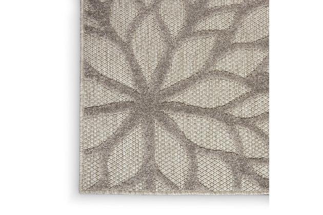 Nourison Aloha 8'x11' Silver Gray Area Rug, Silver Gray, large