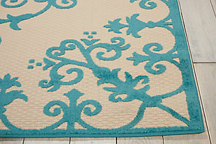 Nourison Aloha Aqua 4'x6' Indoor-outdoor Area Rug, Aqua, large