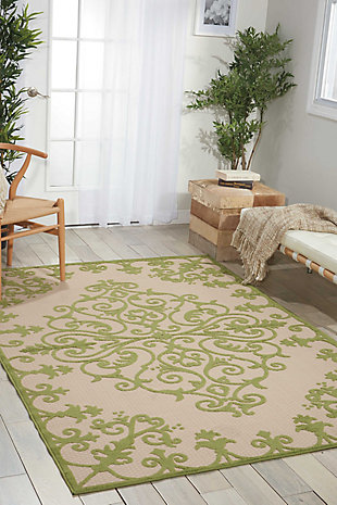 Nourison Aloha Green 4'x6' Indoor-outdoor Area Rug, Green, large
