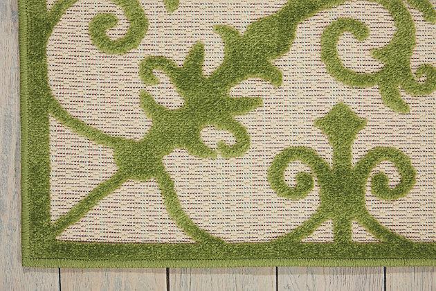 Nourison Aloha Green 4'x6' Indoor-outdoor Area Rug, Green, large