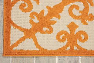 Nourison Aloha Orange 4'x6' Indoor-outdoor Area Rug, Orange, large