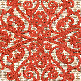 Nourison Aloha Red and White 3'x4' Indoor-outdoor Area Rug, Red, large