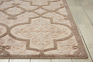 Nourison Aloha Beige 4'x6' Indoor-outdoor Area Rug, Cream, large
