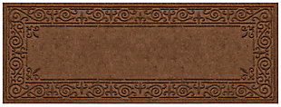 Home Accents Aqua Shield 2' x 5' Iron Fleur Runner, Brown, large