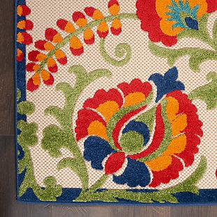 Nourison Aloha Multicolor 8'x11' Oversized Indoor-Outdoor Rug, Multi, large