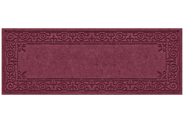 Home Accents Aqua Shield 2' x 5' Iron Fleur Runner by Ashley HomeStore, Red