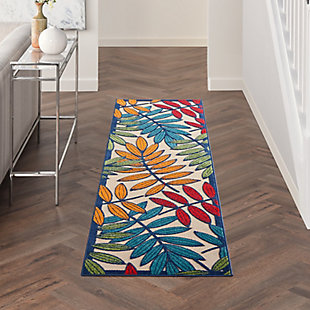 Nourison Aloha Multicolor 12'xRunner Indoor-outdoor Rug, Multi, large