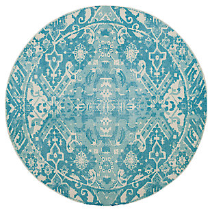 Home Accents Restoration 6' x 6' Round Rug, , large