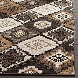"Home Accents Geometric 6'7"" x 9'2"" Rug, Black/Ivory, rollover"
