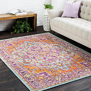Surya Williams Area Rug, Pink, rollover