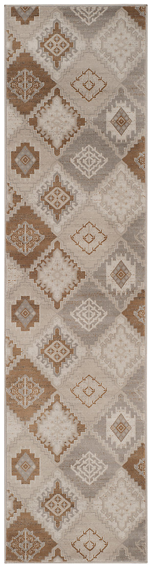 "Home Accents Geometric 2'2"" x 8' Rug, , large"