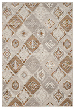 "Home Accents Geometric 4' x 5'7"" Rug, Multi, large"