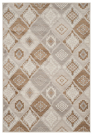 """Home Accents Geometric 4' x 5'7"""" Rug, Multi, rollover"""