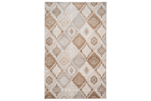 "Home Accents Geometric  5'1"" x 7'7"" Rug, Multi, large"