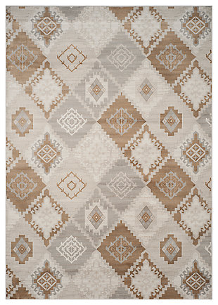 Home Accents Geometric 8' x 11'  Rug, Multi, large