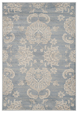 "Home Accents Paisley 4'  x 5'7"" Rug, Light Blue, rollover"