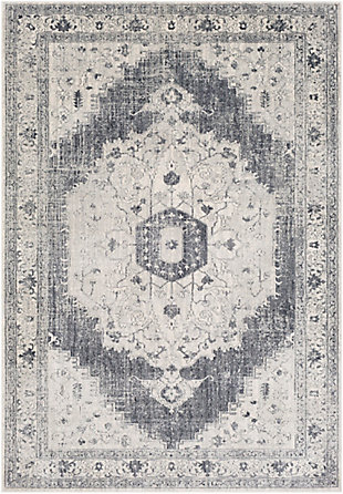 Surya Wilson Area Rug, Gray, large
