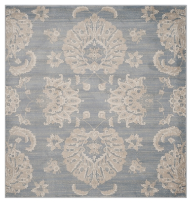 """Home Accents Paisley 6'7"""" x 6'7"""" Rug, , large"""